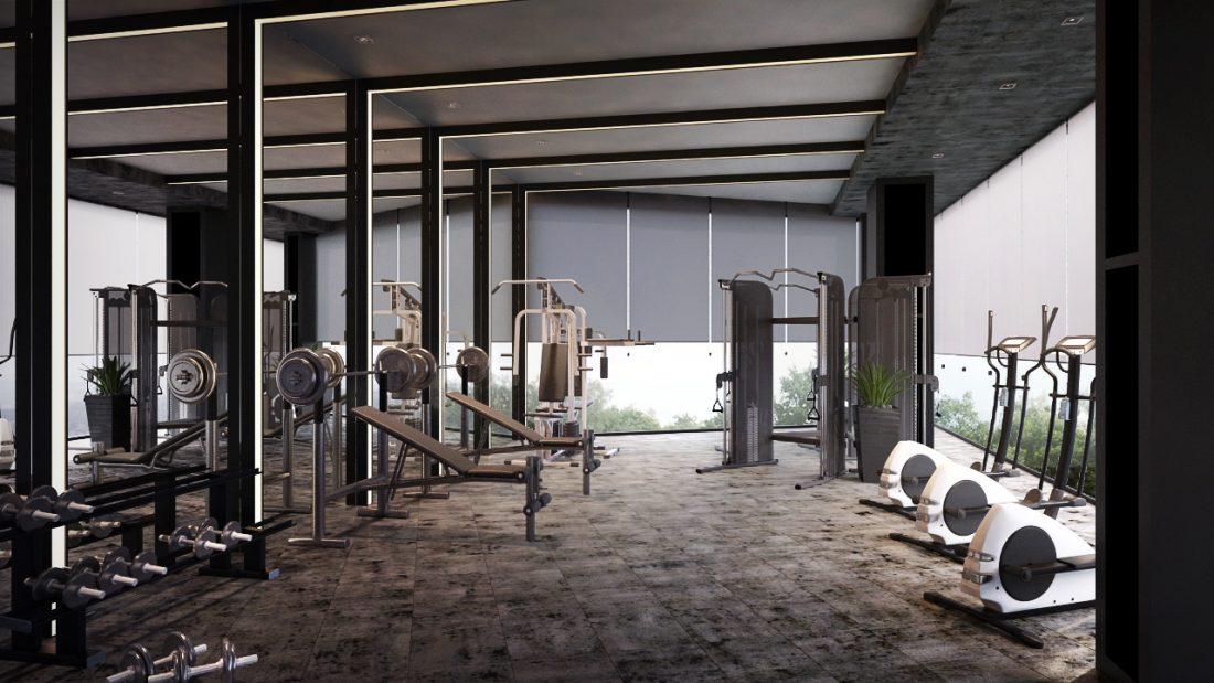 Interior Design Lavanya Residences Langkawi Malaysia Gym Design v1
