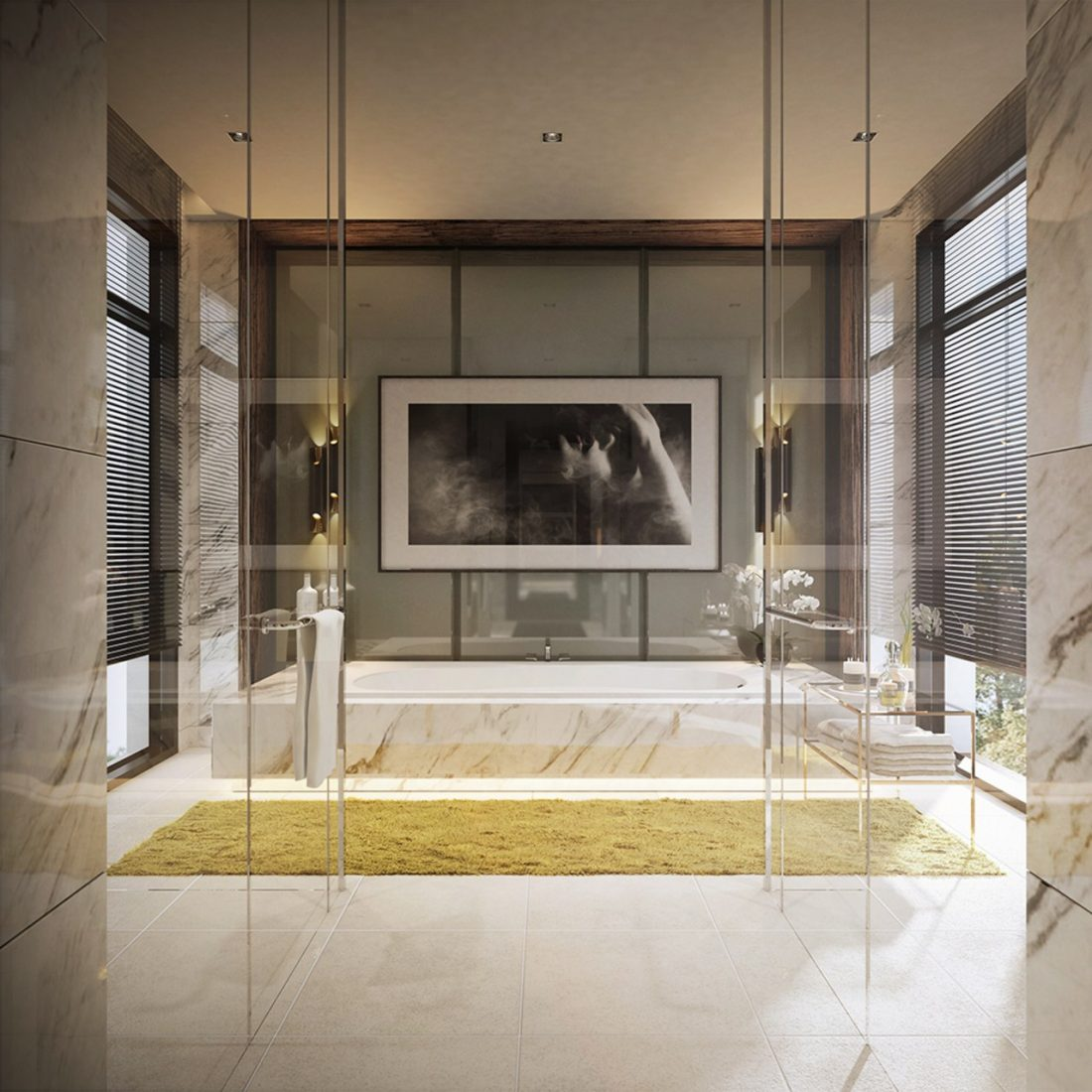 Interior Design Lavanya Residences Langkawi Malaysia Master Bathroom Design v1