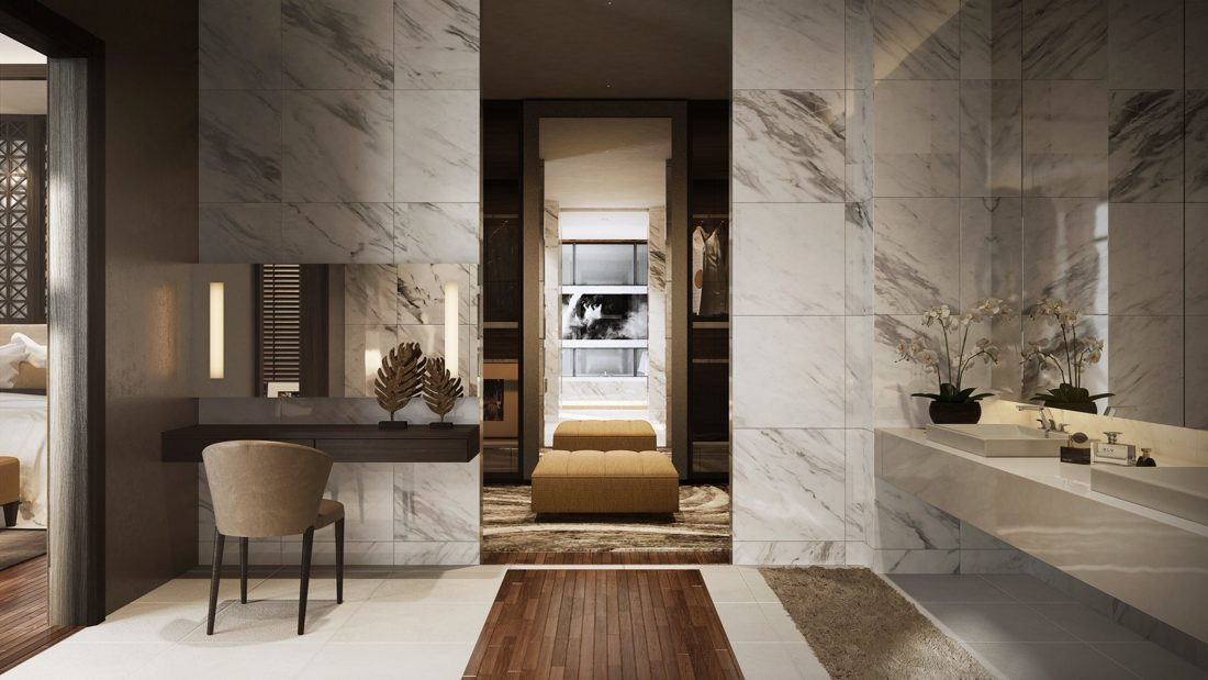 Interior Design Lavanya Residences Langkawi Malaysia Master Vanity Design v1