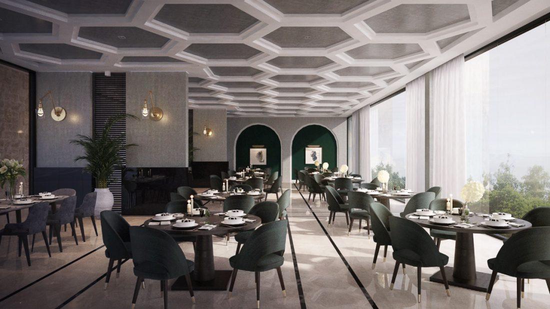 Interior Design Lavanya Residences Langkawi Malaysia Restaurant Design v1