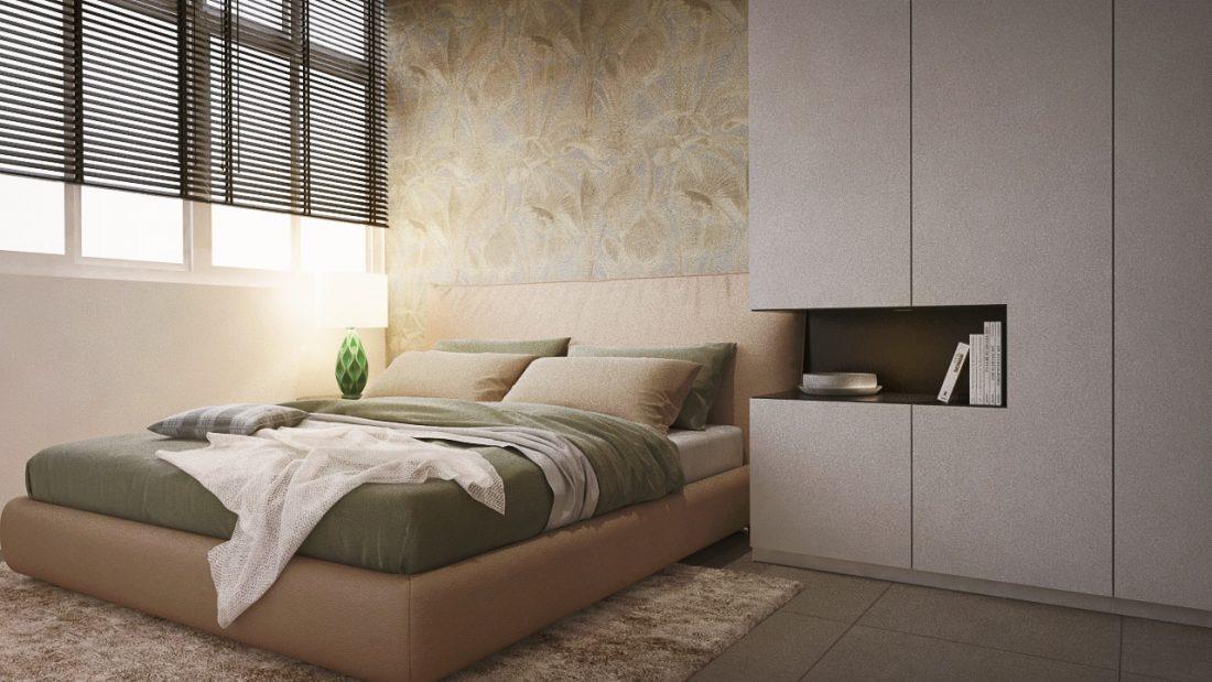 Interior Design SA65 Semi-D Penang Malaysia Guest Room Design v1