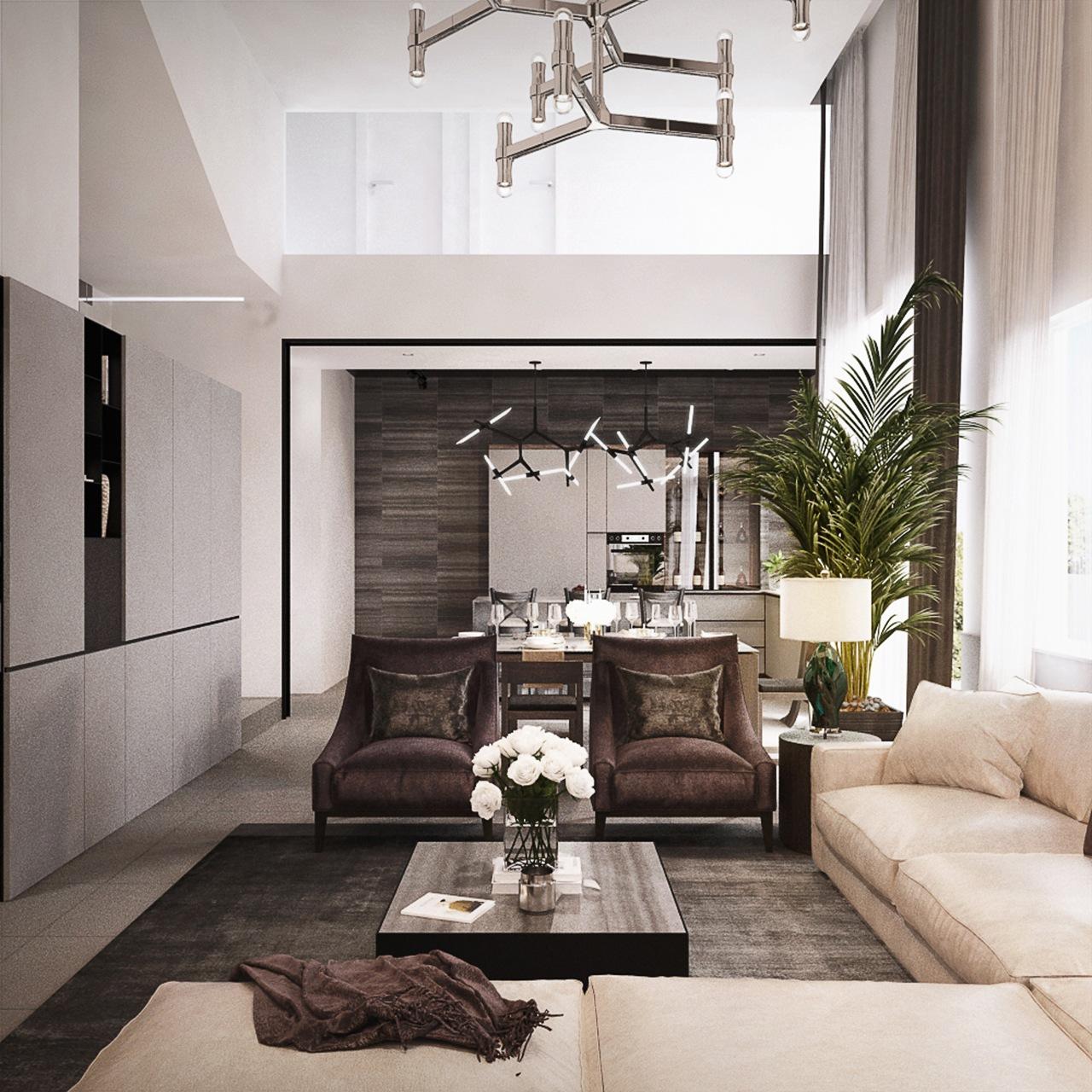 Interior Design SA65 Semi-D Penang Malaysia Living Room