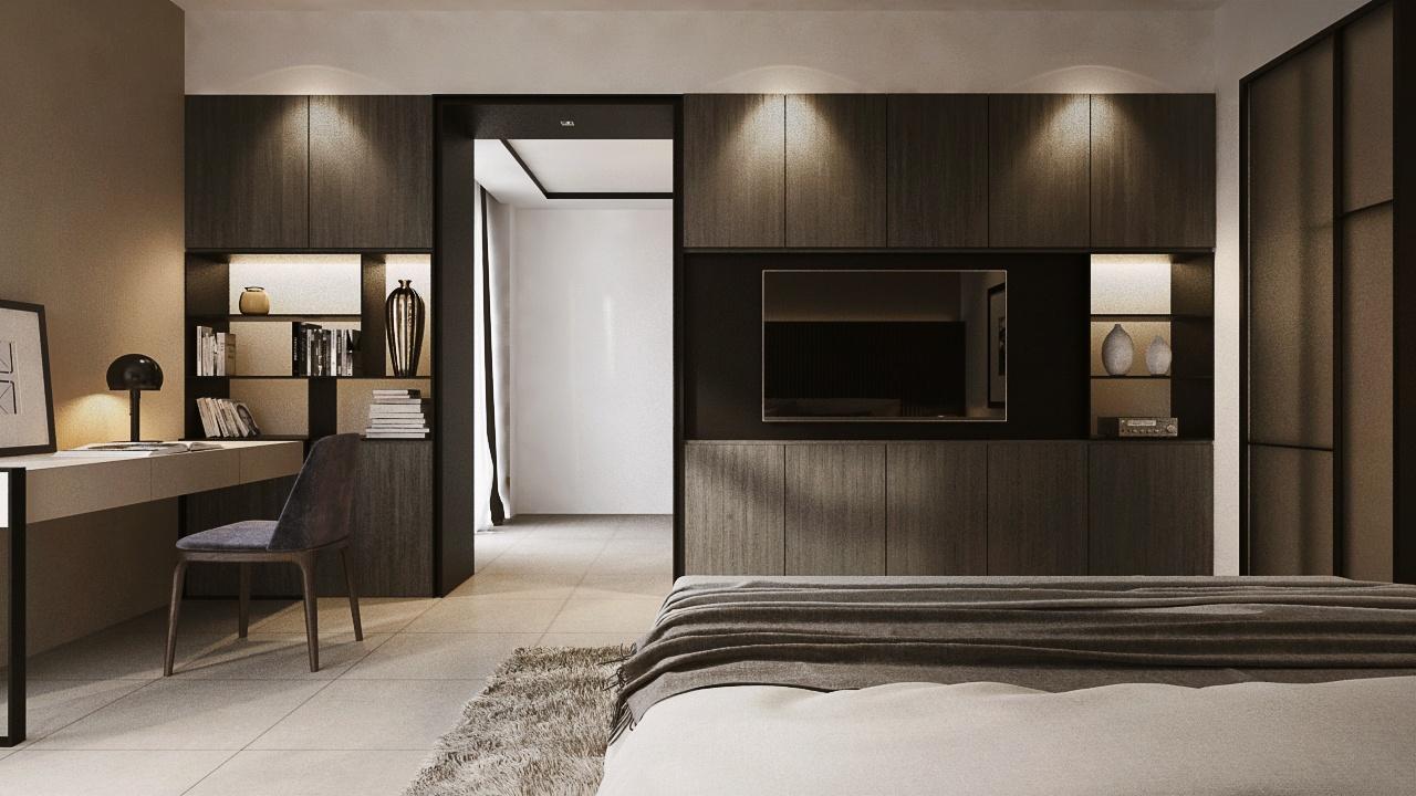 Interior Design Sa65 Semi D Penang Malaysia Master Bedroom V3