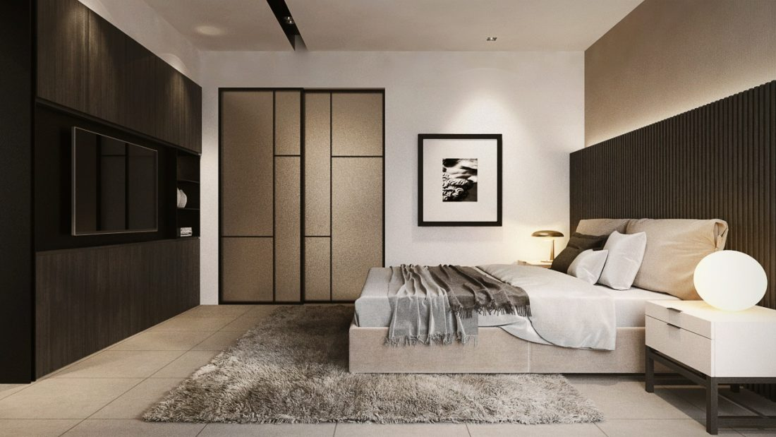 Interior Design SA65 Semi-D Penang Malaysia Master Bedroom Design v4