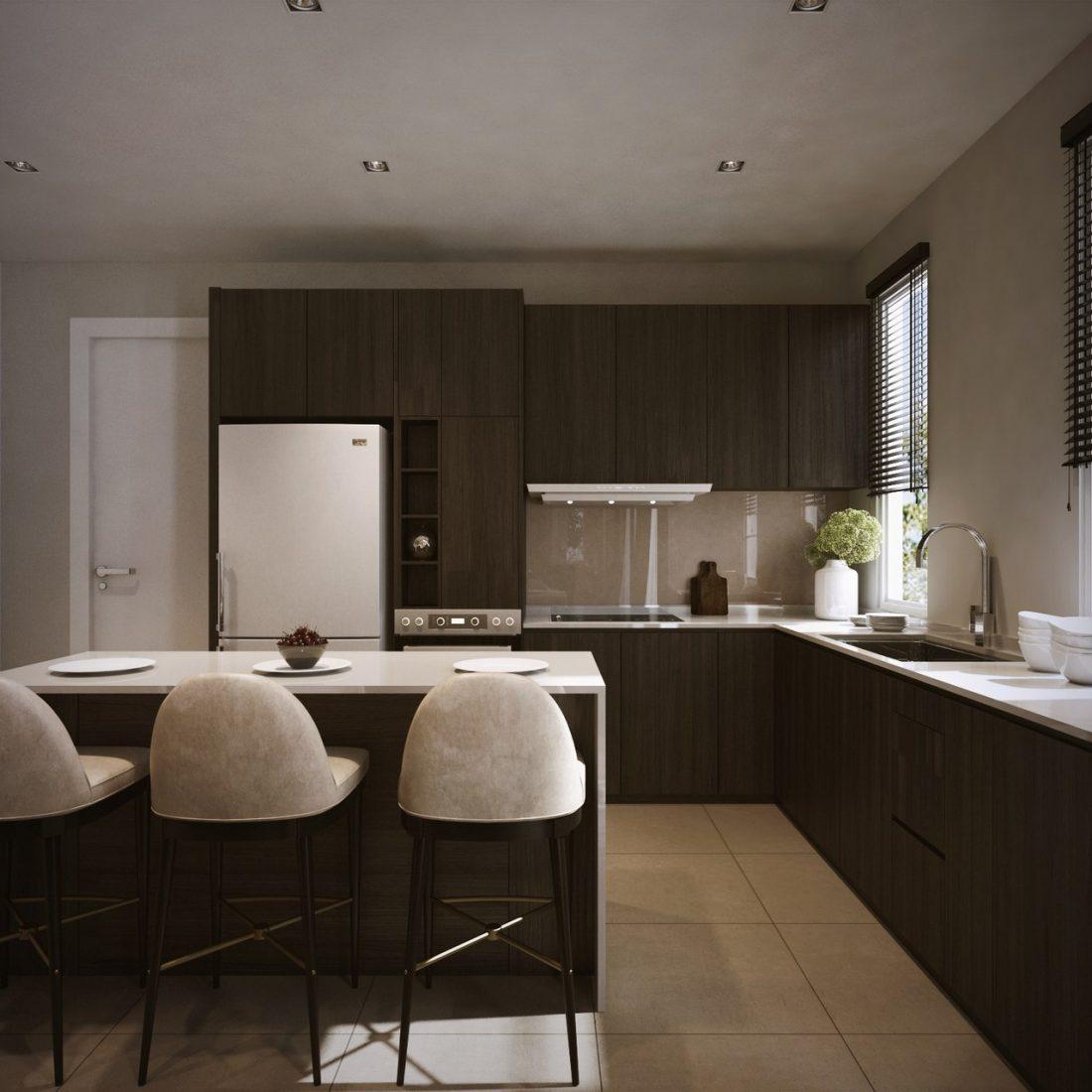 Interior Design SA65 Simpang Ampat Penang Malaysia Dry Kitchen Design v1