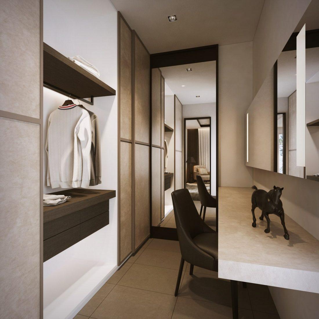 Interior Design SA65 Simpang Ampat Penang Malaysia Junior Master Wardrobe v1