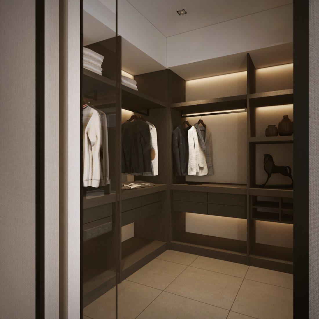 Interior Design SA65 Simpang Ampat Penang Malaysia Walk In Wardrobe Design v1
