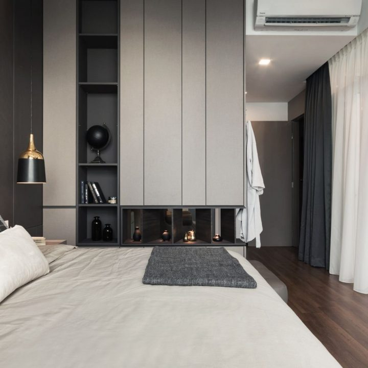 Furniture Southbay Plaza Condominium Penang Malaysia Master Bedroom Design v3