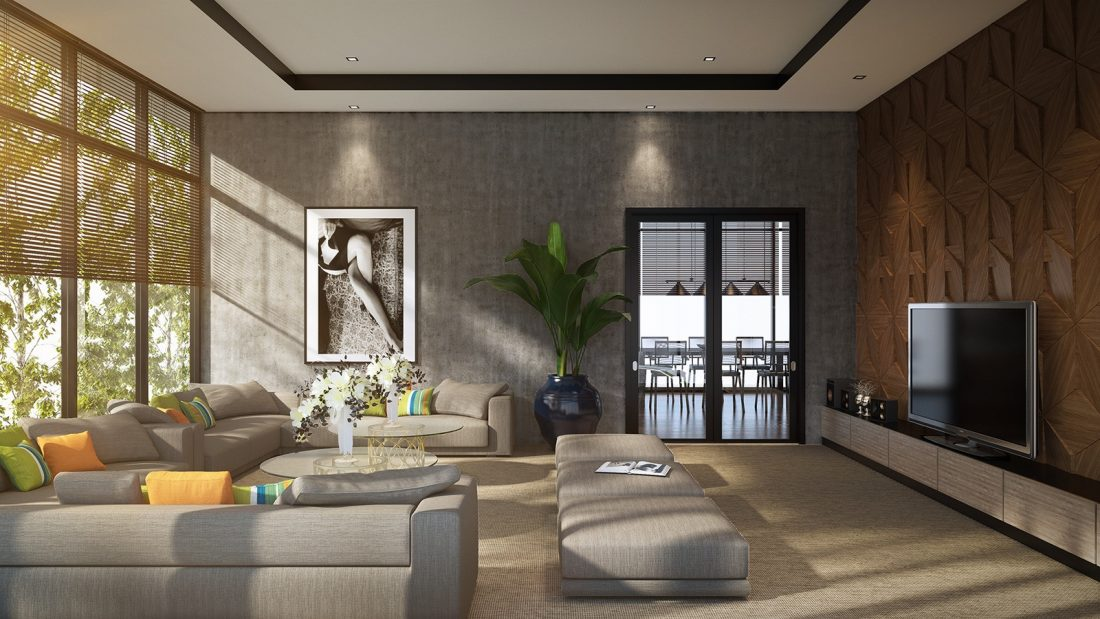 Interior Design The Palms Residence Perak Malaysia Entertainment Room Design v1