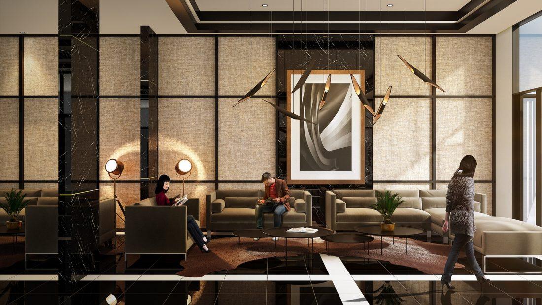 Interior Design The Palms Residence Perak Malaysia Lobby Design v2