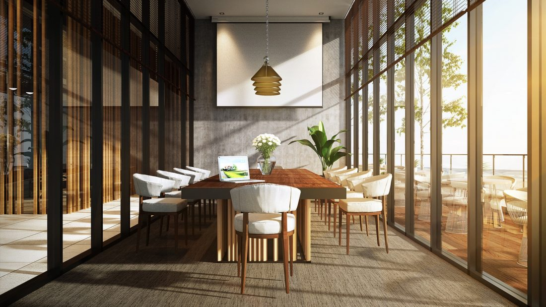 Interior Design The Palms Residence Perak Malaysia Meeting Room Design v1