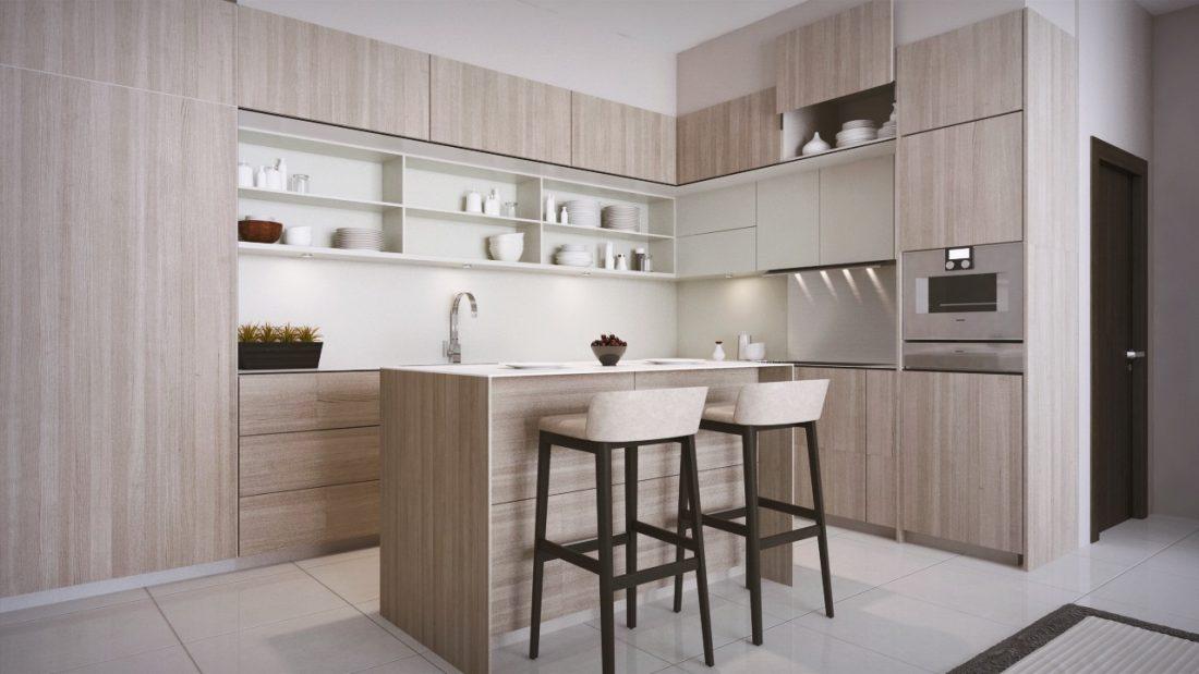 Interior Design Private Bungalow Alor Setar Kedah Malaysia Dry Kitchen Design v1