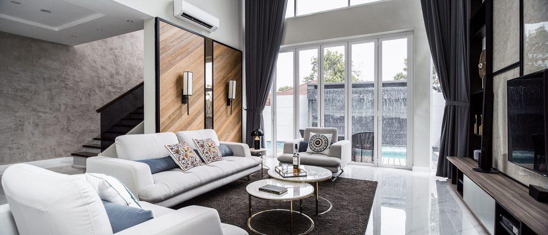 Interior Design Private Bungalow Alor Setar Kedah Malaysia Living Room Design v1
