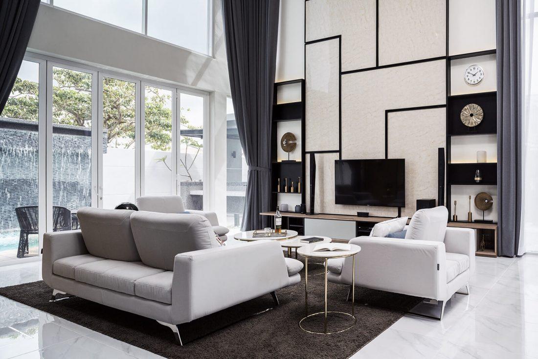 Interior Design Private Bungalow Alor Setar Kedah Malaysia Living Room Design v3