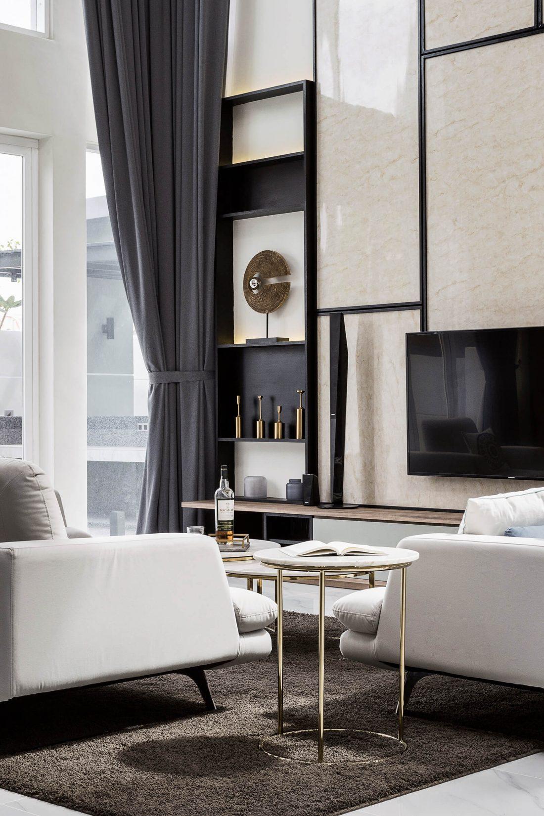 Interior Design Private Bungalow Alor Setar Kedah Malaysia Living Room Design v4