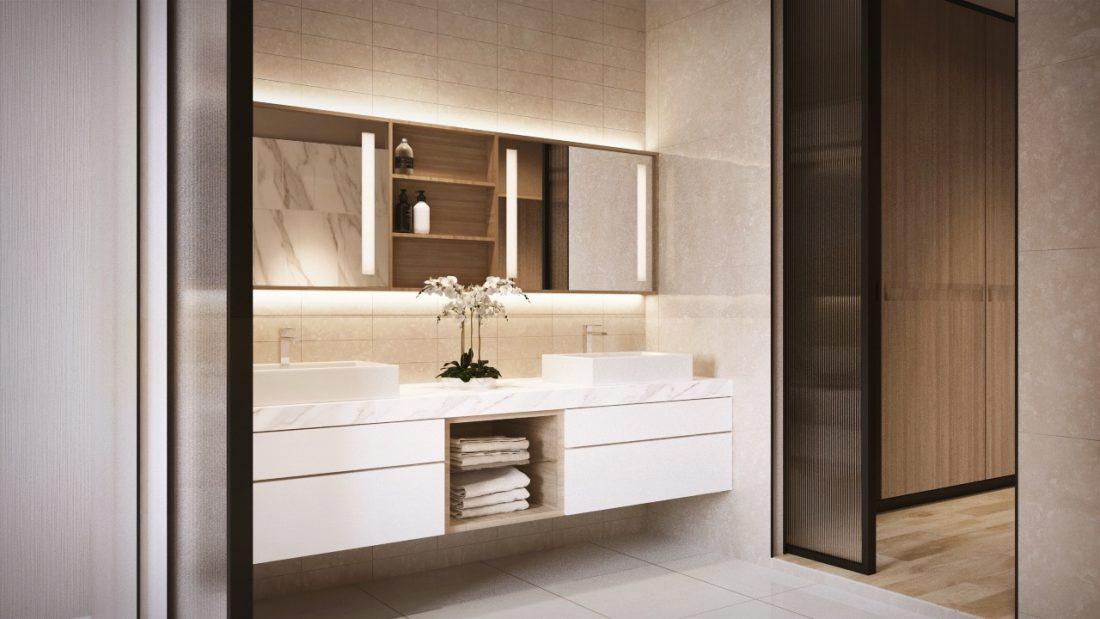 Interior Design Private Bungalow Alor Setar Kedah Malaysia Master Bathroom Design v1