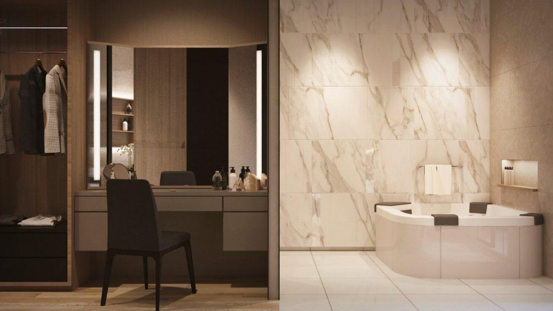 Interior Design Private Bungalow Alor Setar Kedah Malaysia Master Bathroom Design v2