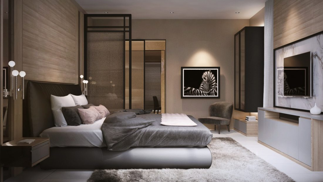 Interior Design Private Bungalow Alor Setar Kedah Malaysia Master Bedroom Design v1