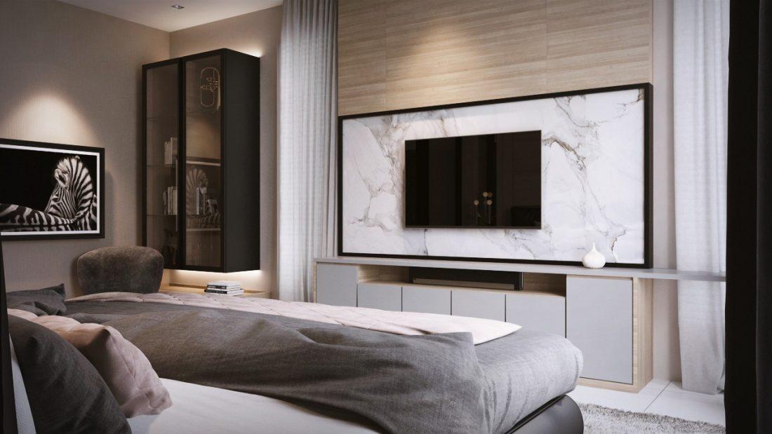 Interior Design Private Bungalow Alor Setar Kedah Malaysia Master Bedroom Design v2
