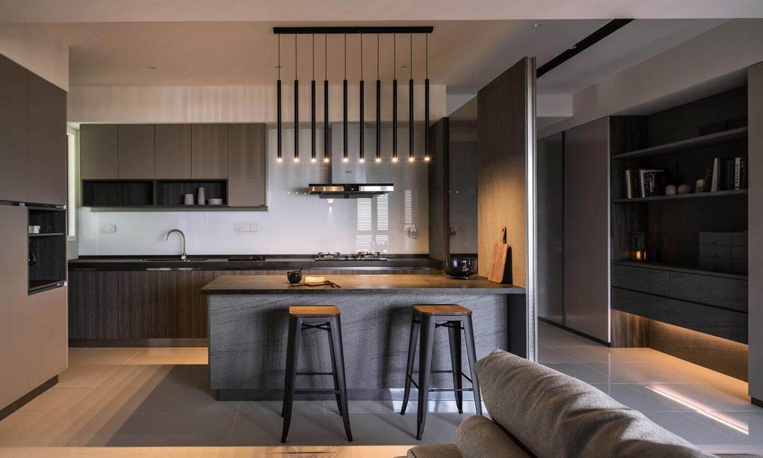 Interior Design Raffel Tower Penang Malaysia Kitchen v1