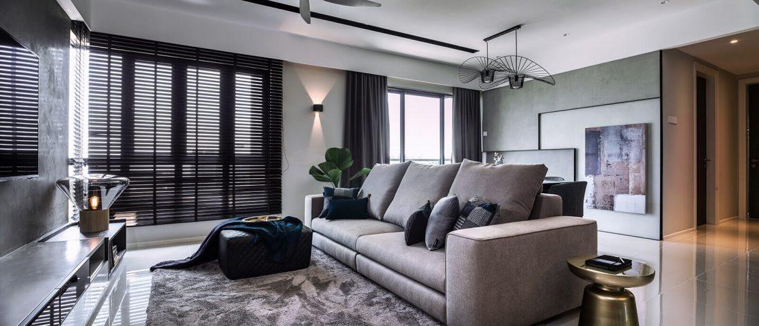 Interior Design Raffel Tower Penang Malaysia Living v1