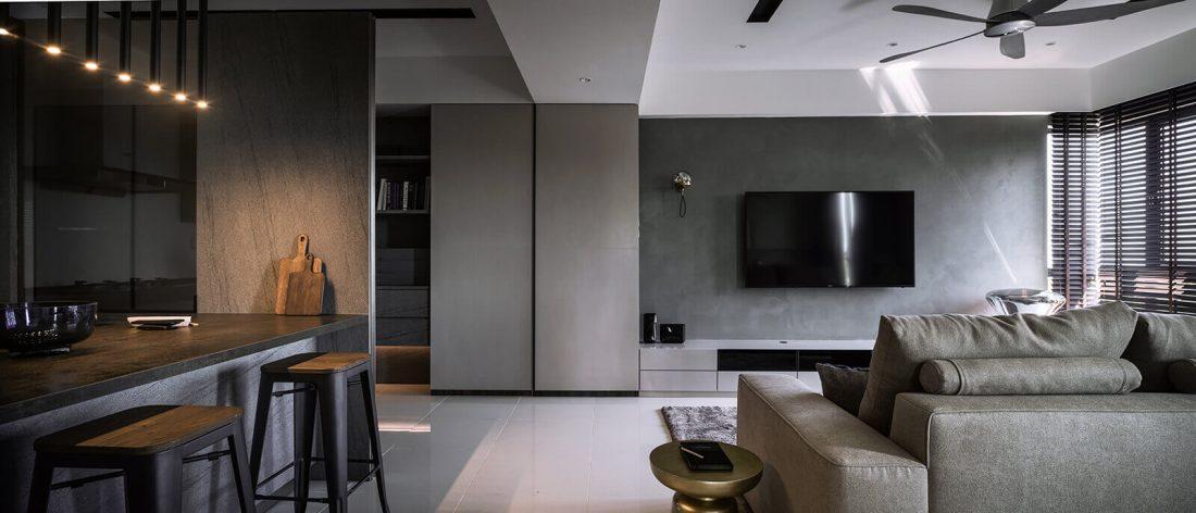 Interior Design Raffel Tower Penang Malaysia Living v2