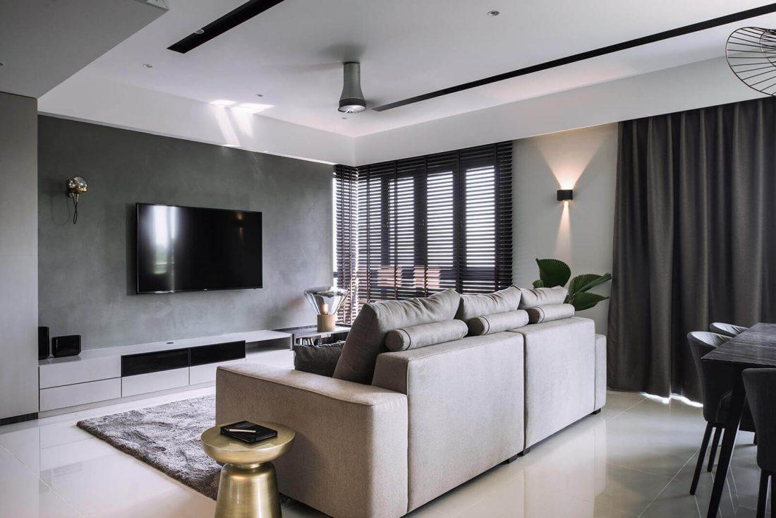 Interior Design Raffel Tower Penang Malaysia Living v5