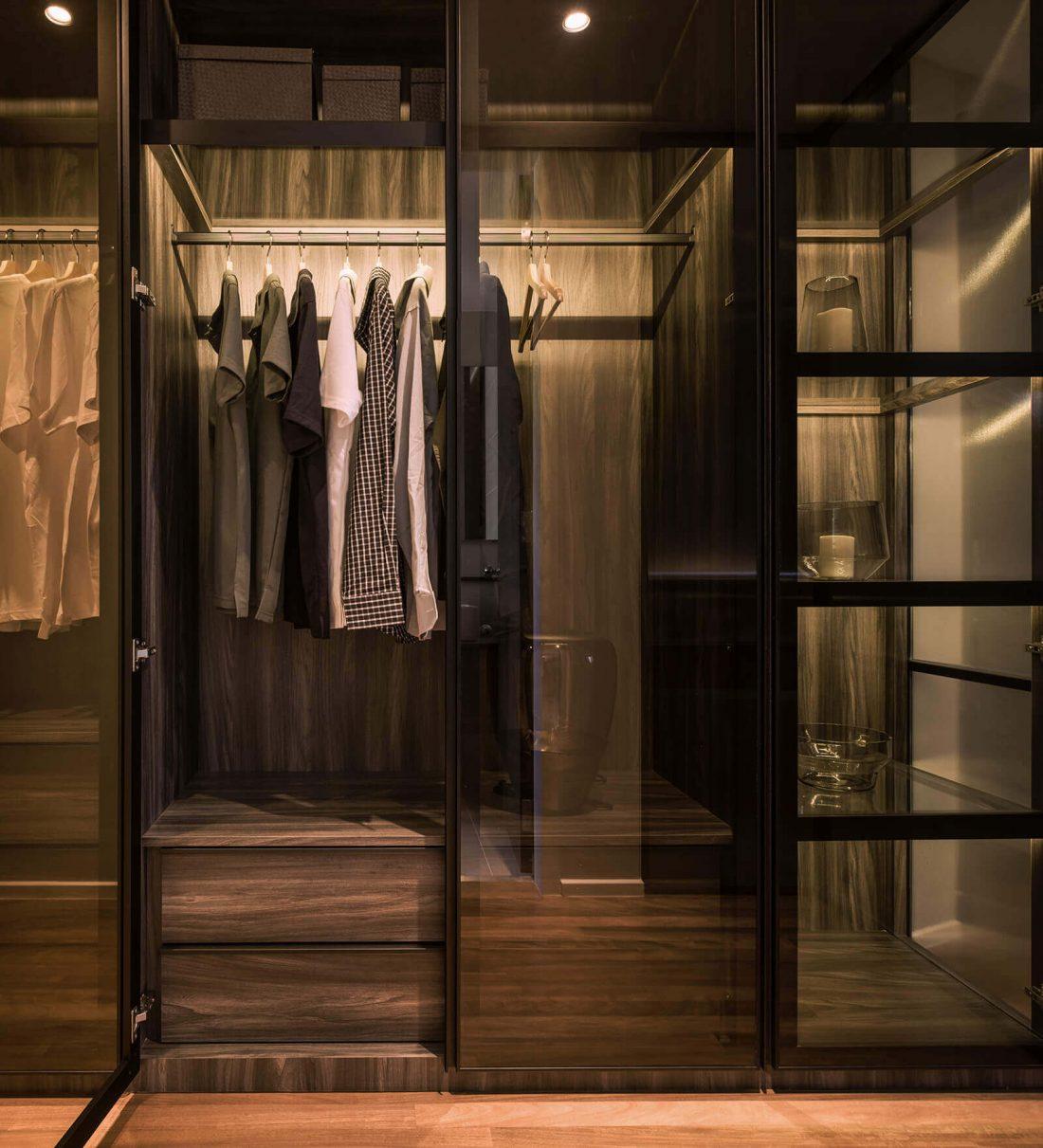 Interior Design Raffel Tower Penang Malaysia Master Wardrobe v2
