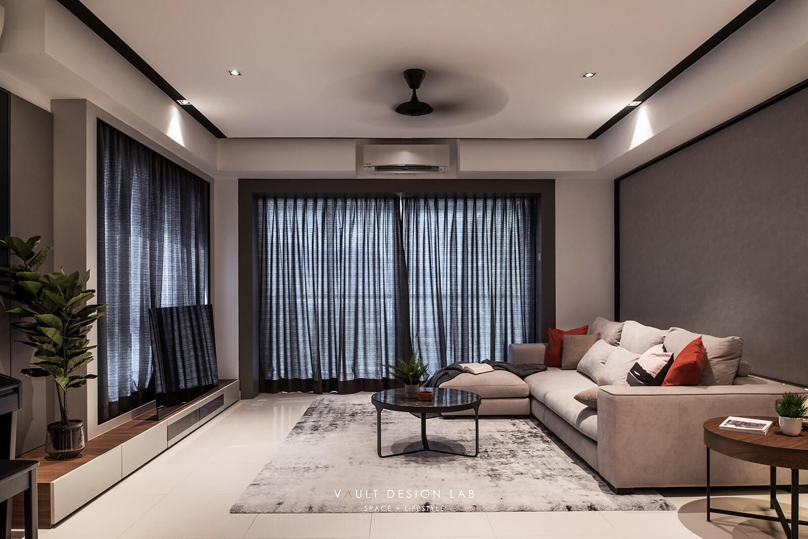 Interior Design Platino Luxury Condominium Penang Malaysia Living Room Design V2 Vault Design Lab